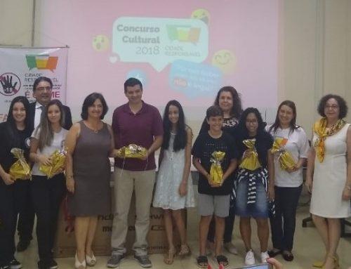Concurso Cultural Cidade Responsável 2018 premia vencedores